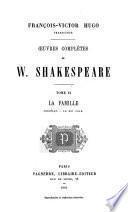 Oeuvres complètes de William Shakespeare