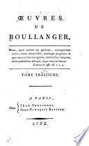 Oeuvres de Boullanger: L'Antiquité dévoilée par ses usages
