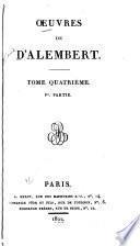 Oeuvres de d'Alembert