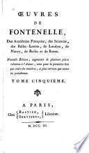 Oeuvres de Fontenelle
