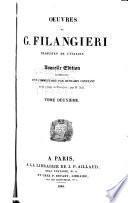 Oeuvres de G. Filangieri: Des lois criminelles. 2. ptie. Des lois relatives à l'éducation, aux mœurs, et à l'instruction publique. 1.-2. ptie