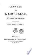 Oeuvres de J. J. Rousseau, 18 (Correspondance, 1)