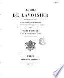 Oeuvres de Lavoisier...