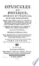 Oeuvres de m. l'abbé Spallanzani ...