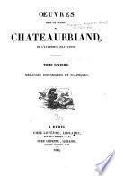 Oeuvres de m.le vicomte de Chateaubriand ...: Mélanges historiques et politiques