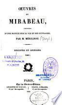 Oeuvres de M. Mirabeau précédés d'une notice sur sa vie et ses ouvrages