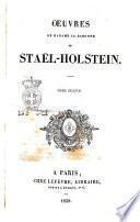 Oeuvres de Madame la Baronne de Stael-Holstein