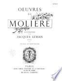 Oeuvres de Molière: - Le mariage forcé. Dom Juan ou le festin de pierre. L'amour médecin. Le misanthrope