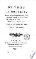 Oeuvres de Moncrif, membre de l'Academie Francoise, & de celles des Science & Belles-Lettres de Nancy & de Berlin