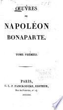 Oeuvres de Napoléon Bonaparte