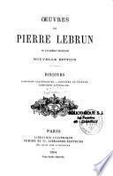 Oeuvres de Pierre Lebrun de l'Académie française