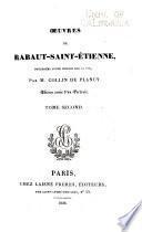Oeuvres de Rabaut-Saint-Étienne