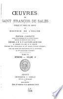 Oeuvres de Saint François de Sales