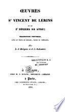 Oeuvres de St Vincent de Lérins et de St Eucher de Lyon