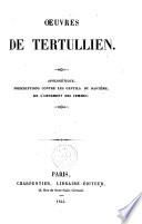 Oeuvres de Tertullien