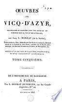 Oeuvres de Vicq-d'Azyr