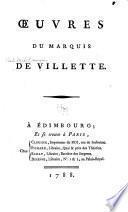 Oeuvres du marquis de Villette