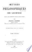 Oeuvres philosophiques de Leibniz