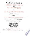 Oeuvres philosophiques et mathématique