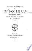 OEuvres poétiques de N. Boileau suivies d'œuvres en prose, pub