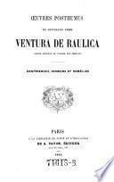 Oeuvres posthumes du Révérend Père Ventura de Raulica, ancien général de l'ordre des Théatins