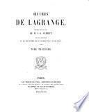 Oeuvres publiés par ... J. A. Serret