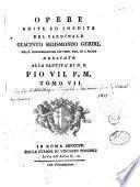 Opere edite e inedite del cardinale Giacinto Sigismondo Gerdil,...