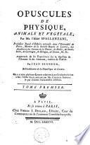 Opuscules de physique, animale et végétale