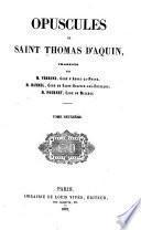 Opuscules de Saint Thomas d'Aquin