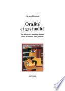 Oralité et gestualité
