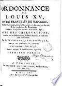 Ordonnance de Louis xv ... pour fixer la jurisprudence sur ... les donations ... 1731; avec des observations par J.-B. Furgole. [With] Questions remarquables sur la matière des donations