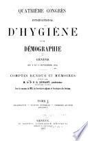 Organisation. Séances générales. Première section. Appendice