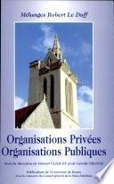 Organisations privées, organisations publiques