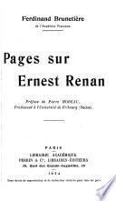Pages sur Ernest Renan