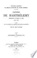 Papiers du Barthélemy