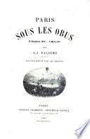 Paris sous les obus, 19 sept. 1870-3 mars 1871