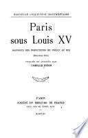 Paris sous Louis XV