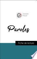 Paroles de Jacques Prévert (fiche de lecture de référence)