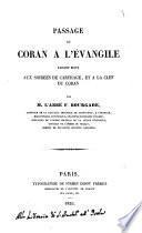 Passage du Coran à l'évangile