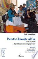 Pauvreté et démocratie au Pérou