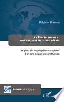 Peacebuilding : concept, mise en oeuvre, débats