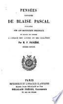 Pensées choisies de Blaise Pascal