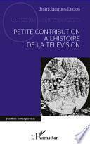 Petite contribution à l'histoire de la télévision