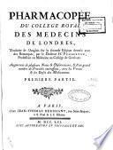 Pharmacopée du Collège royal des Médecins de Londres