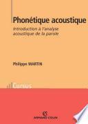 Phonétique acoustique