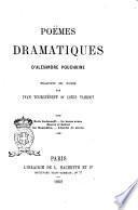 Poëmes dramatiques d'Alexandre Pouchkine