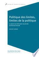 Politique des limites, limites de la politique