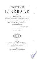 Politique libérale ou fragments pour servir à le défense de la révolution française