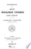 Polybiblion. Revue bibliographique universelle