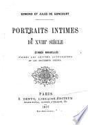 Portraits intimes du XVIIIe siècle